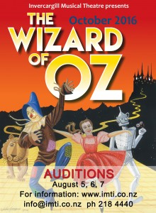 Wizard of Oz - Audition Poster